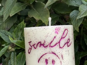 Smile candle