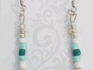 Teal hanging earrings
